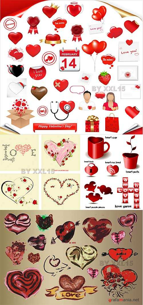 Set of Valentine