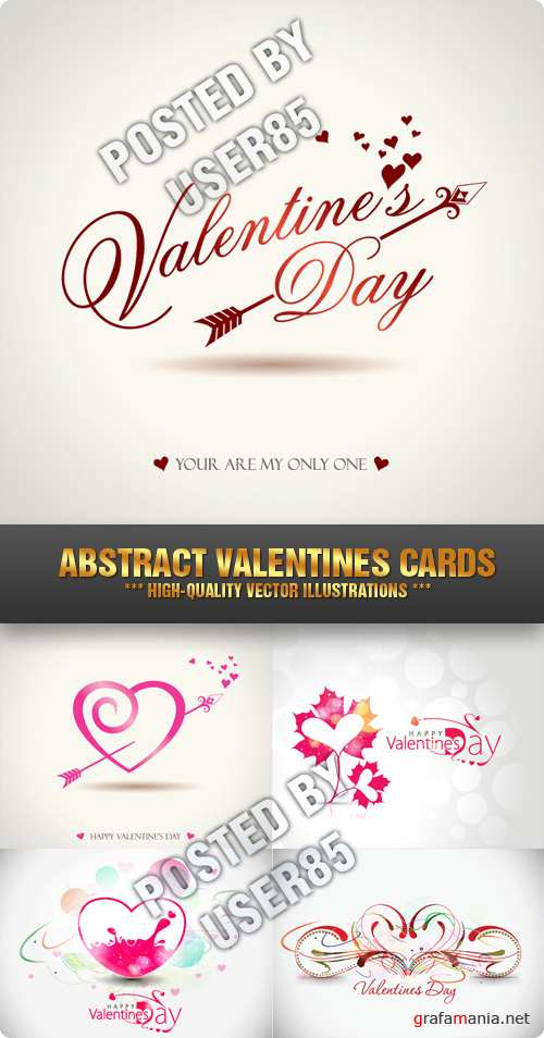 Stock Vector - Abstract Valentines Cards