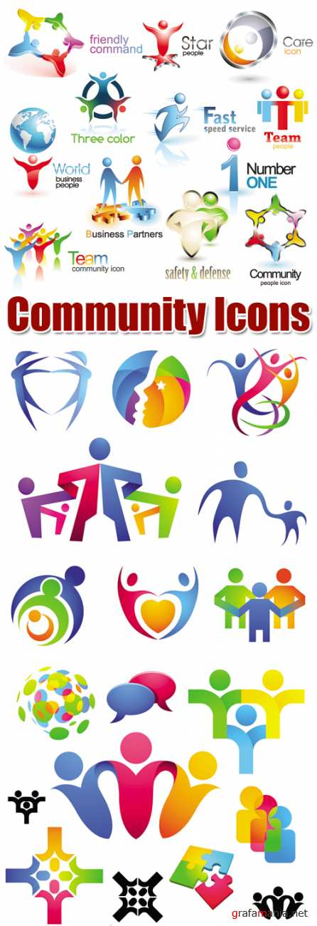 Community Icons Vector