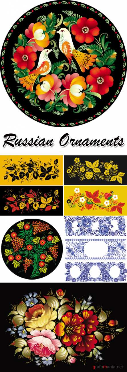 Russian Style Ornaments Vector