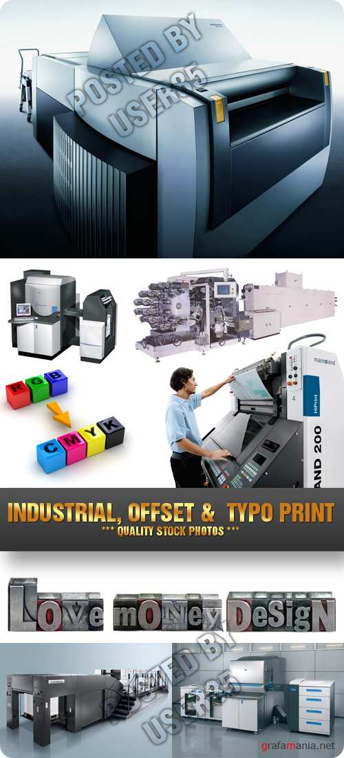 Stock Photo - Industrial, Offset & Typo Print