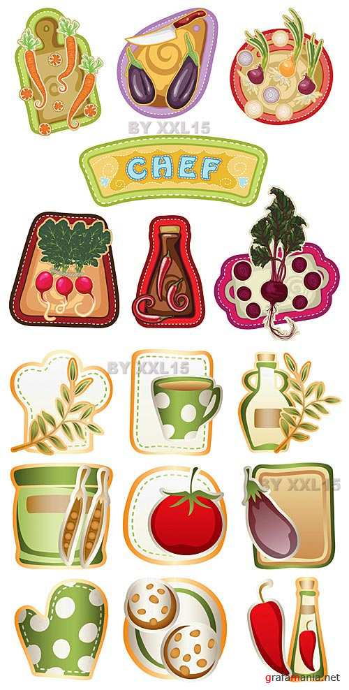 Cooking icons set