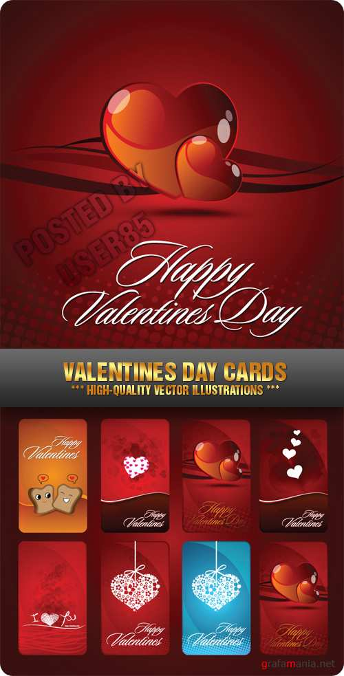 Stock Vector - Valentines Day Cards