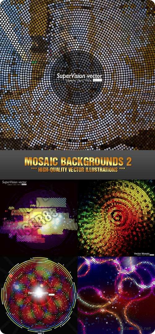 Stock Vector - Mosaic Backgrounds 2