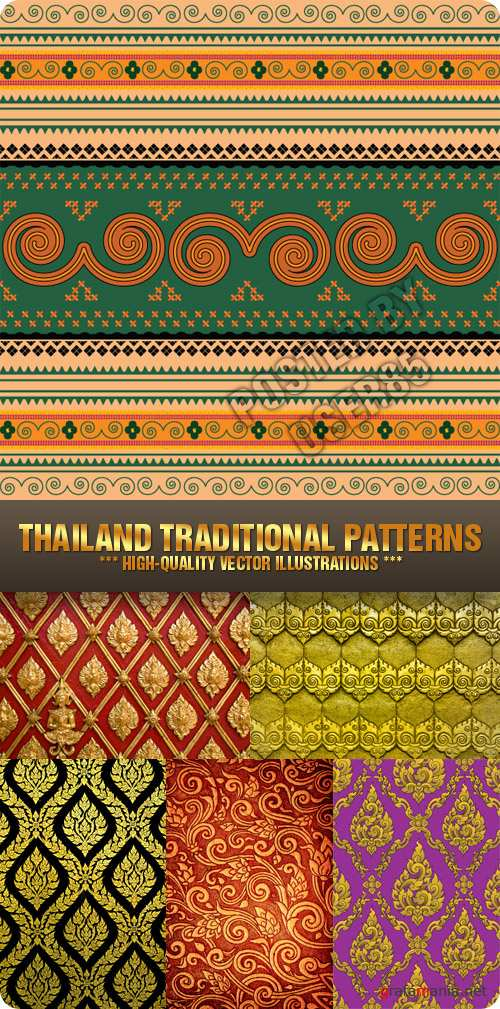 Stock Photo - Thailand Traditional Patterns