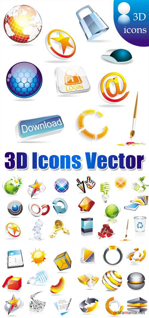 3D Icons Vector 2