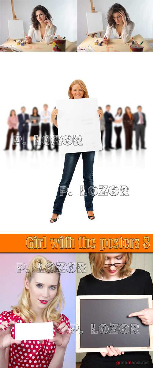 Girl with the posters 8
