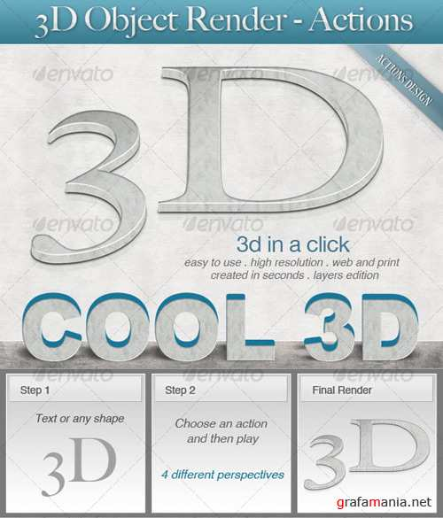 GraphicRiver - 3D Object Render