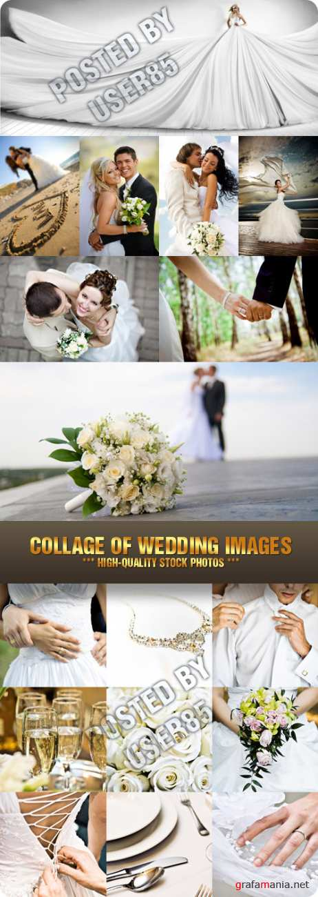 Stock Photo - Collage of Wedding Images