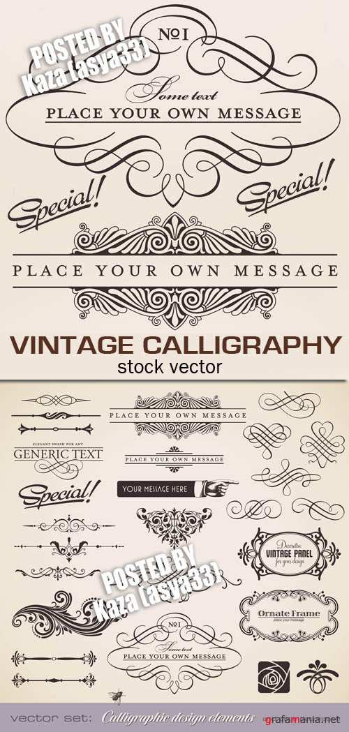 Vintage calligraphy 2