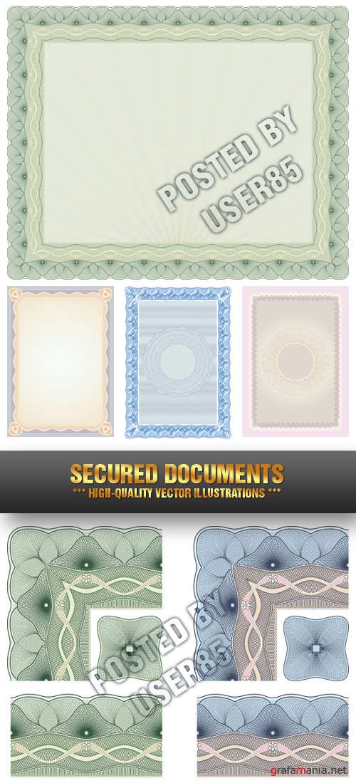 Stock Vector - Secured Documents