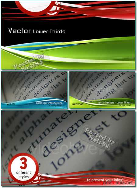 VECTOR Lower Thirds VideoHive motion REUP