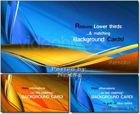 RIBBONS Lower third & Background COMBO VideoHive motion REUP