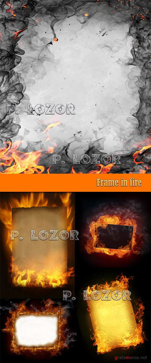 Frame in fire