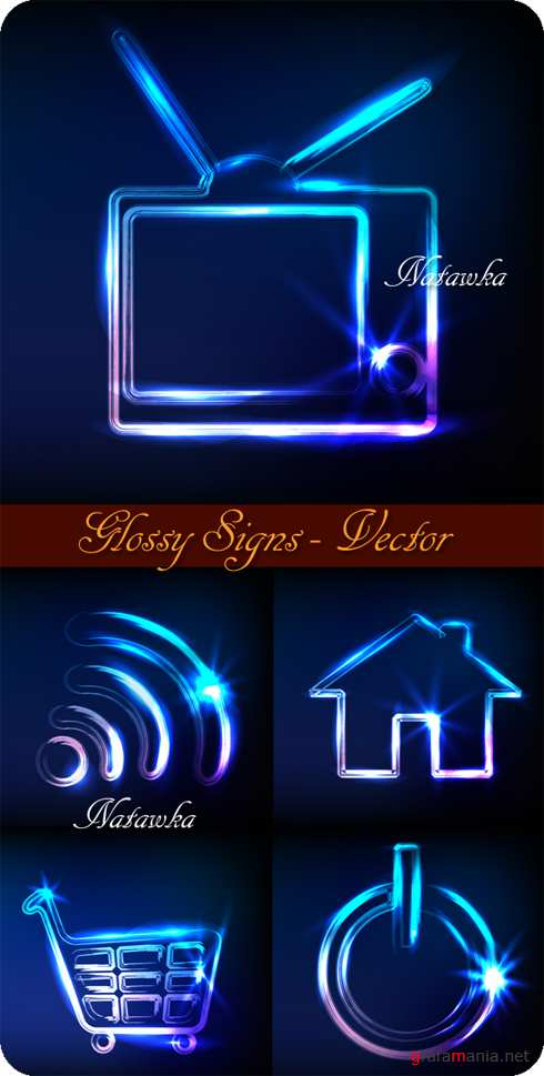 Glossy Signs - Stock Vectors
