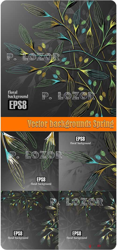 Vector backgrounds Spring