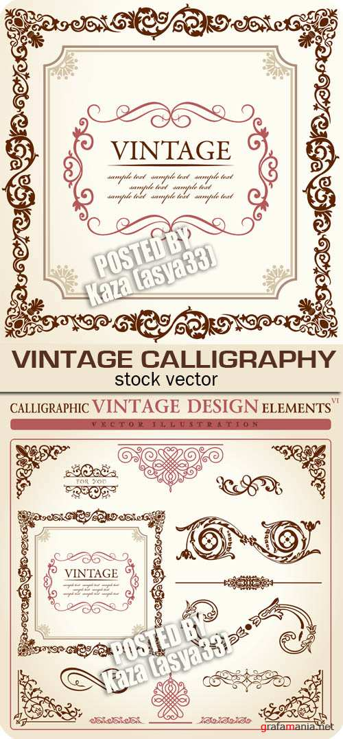 Vintage calligraphy 3