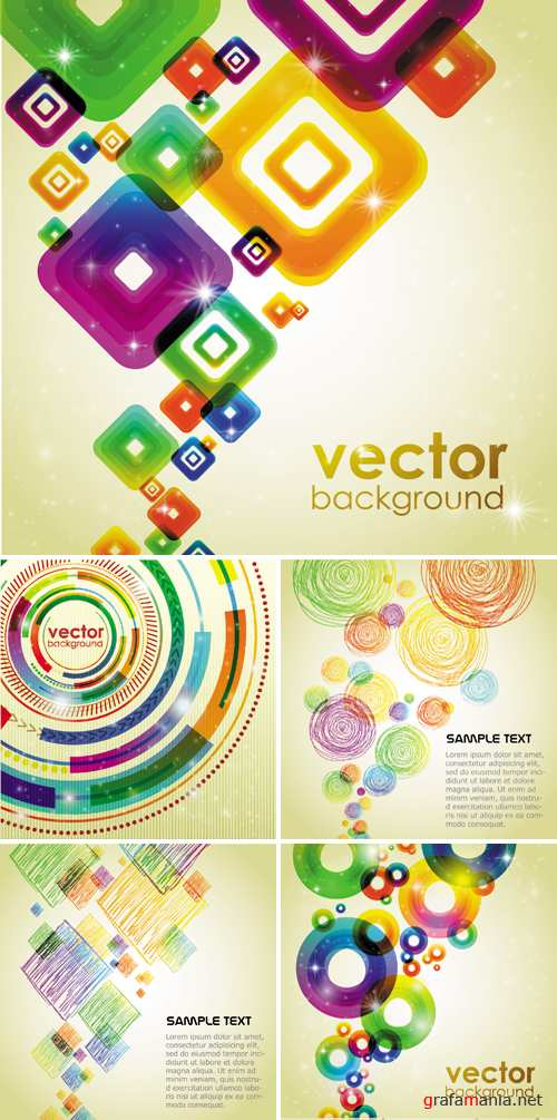 Abstract Colorful Backgrounds Vector 2