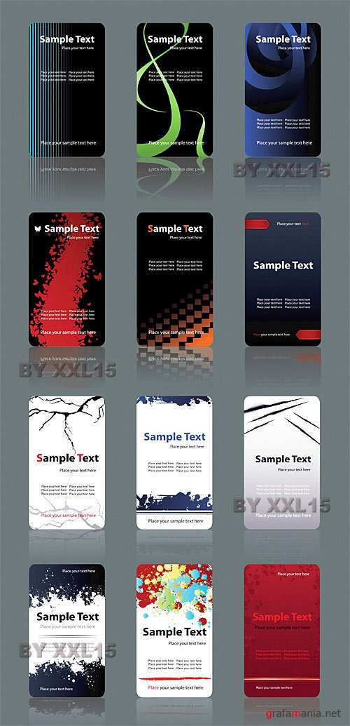 Business cards set 6