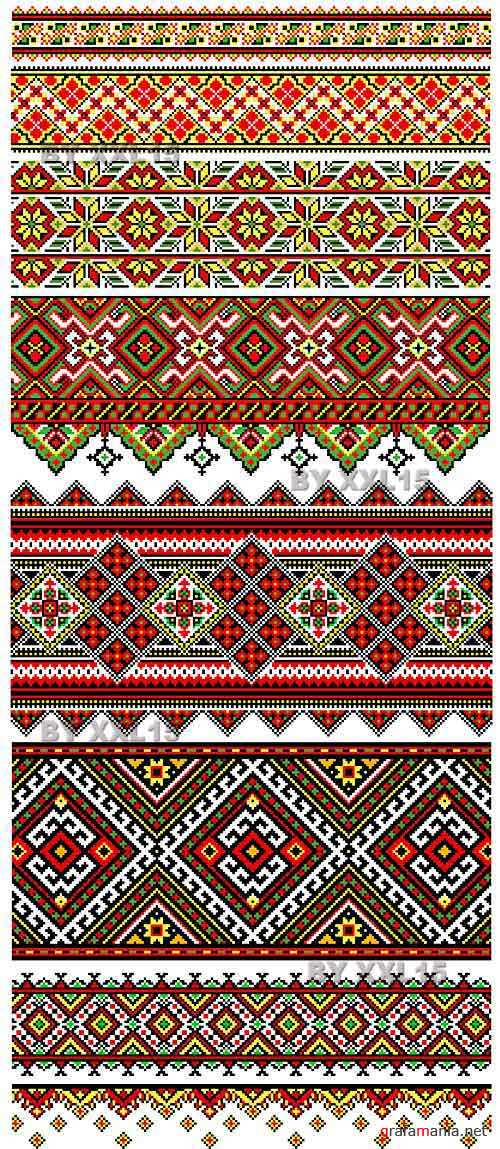 Ethnic embroidery ornaments