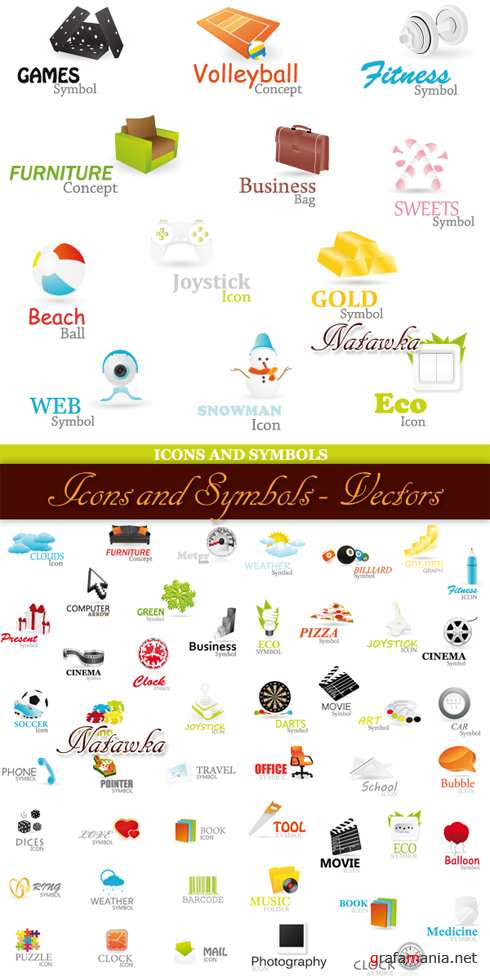 Icons and Symbols - Stock Vectors
