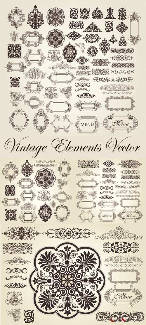 Vintage Design Elements Vector 3
