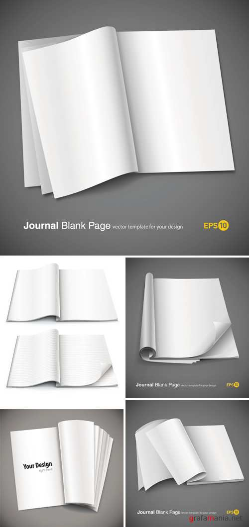 Journal Blank Pages Vector