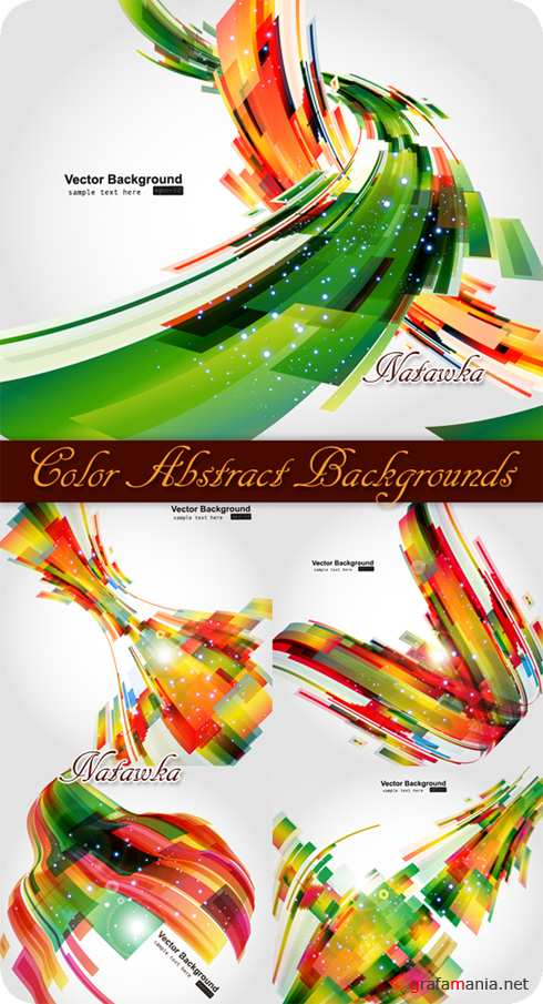 Color Abstract Backgrounds - Stock Vector
