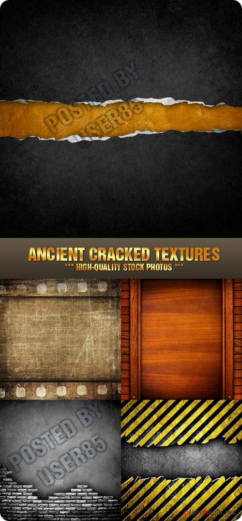 Stock Photo - Ancient Cracked Textures
