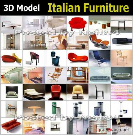 3D models Italian furniture by renowned designers for 3D Max
