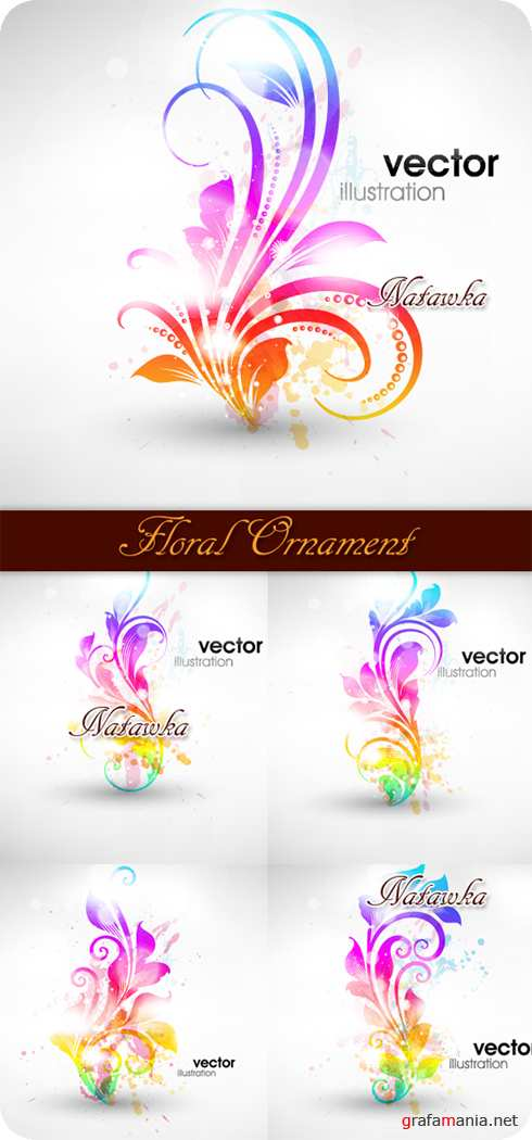 Illustration of Floral Ornament - Stock Vectors
