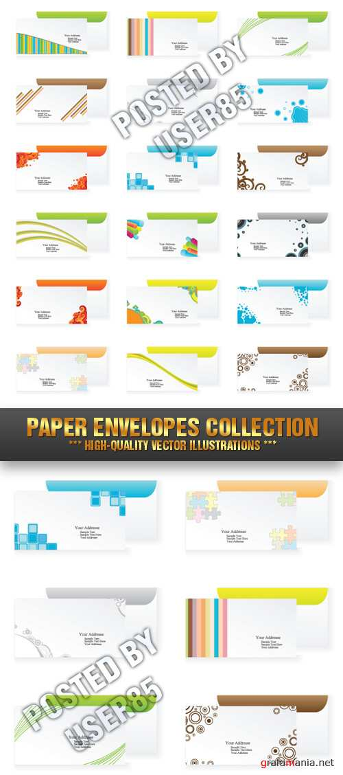 Stock Vector - Paper Envelopes Collection