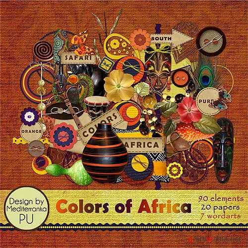 Скрап-набор – Colors of Africa