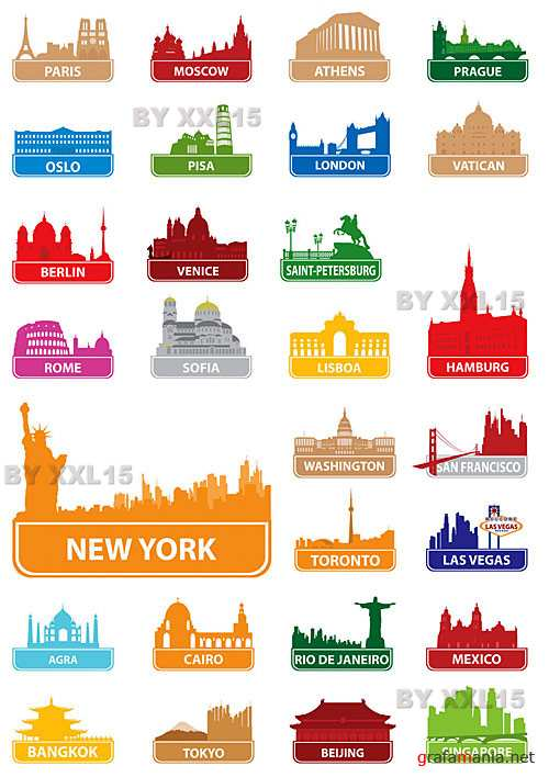 Symbols of world cities
