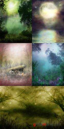 Misty fairy backgrounds