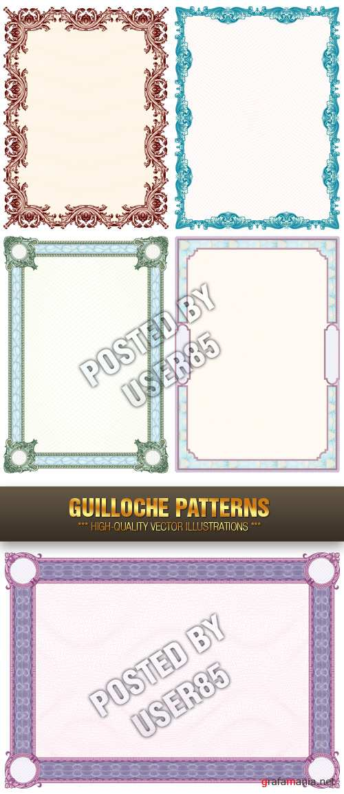 Stock Vector - Guilloche Patterns