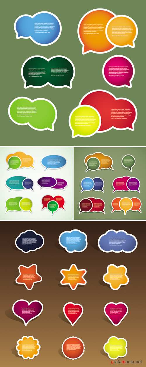 Color Tags Labels Vector