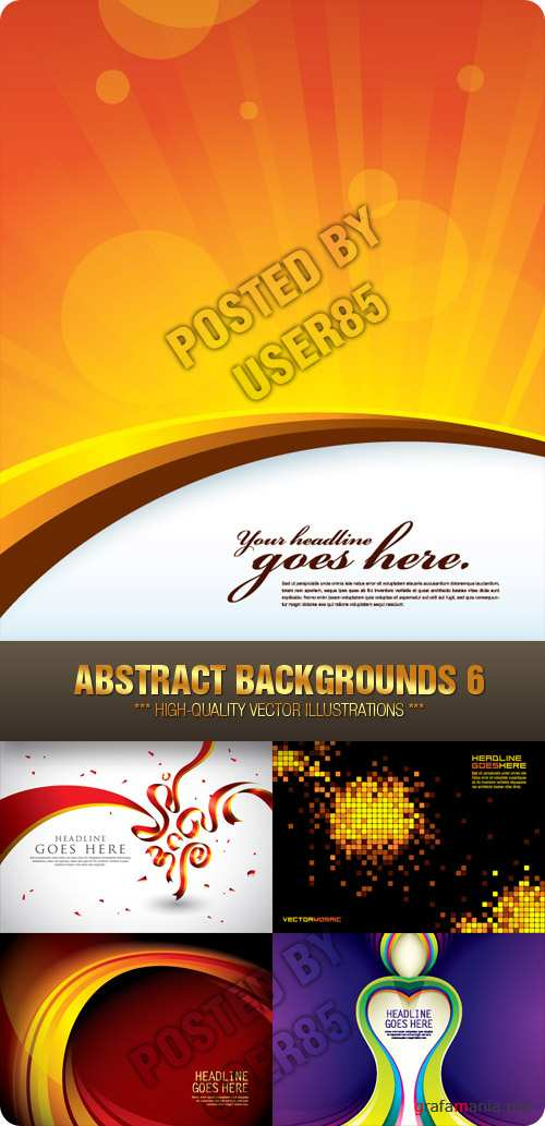 Stock Vector - Abstract Backgrounds 6