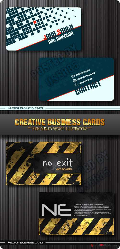 Stock Vector - Creative Business Cards