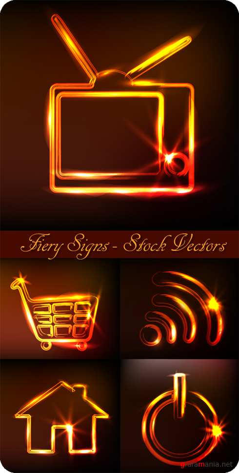 Fiery Signs - Stock Vectors