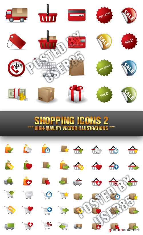 Stock Vector - Shopping Icons 2