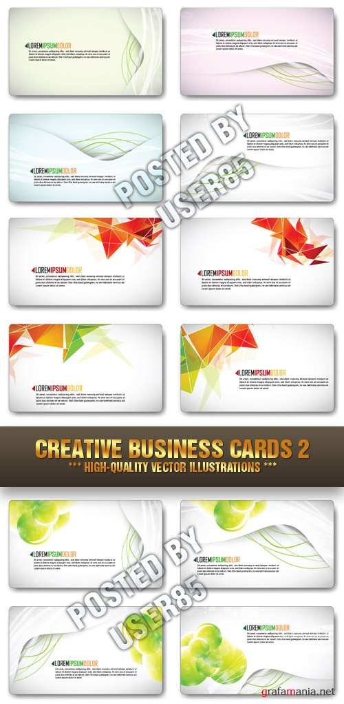 Stock Vector - Creative Business Cards 2