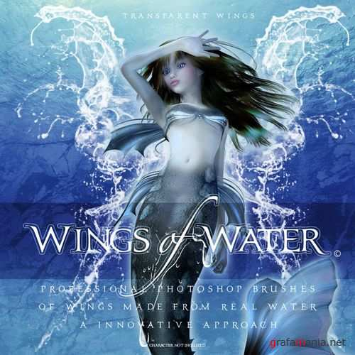 142 High-Resolution Photoshop Brushes Wings of Water.