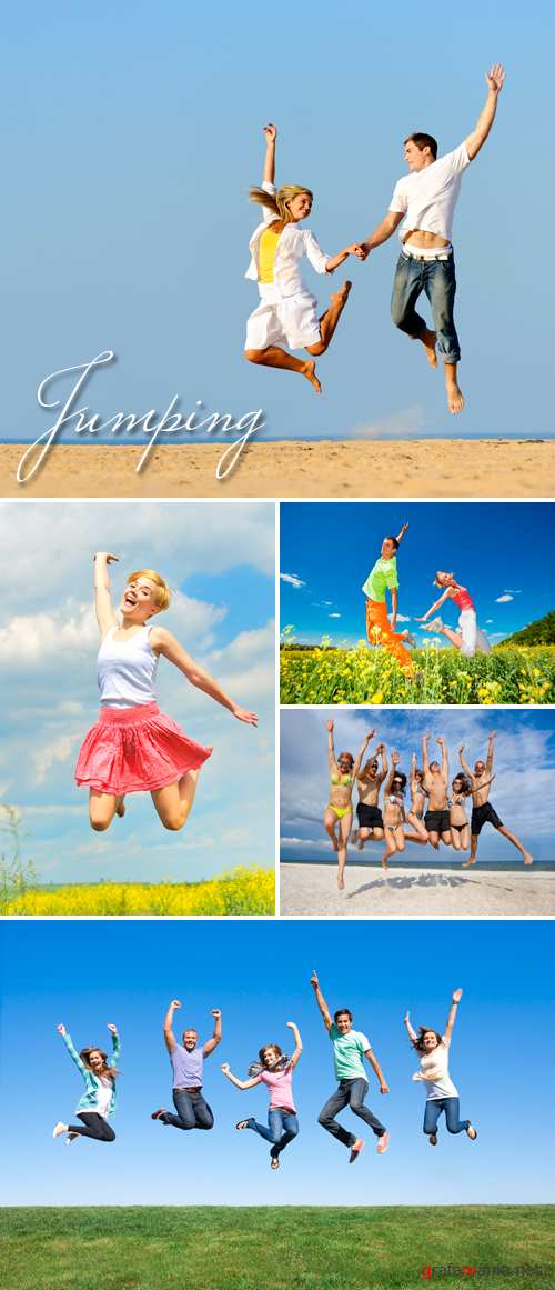 Stock Photo - Jumping People 2