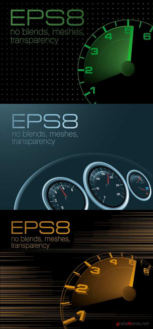 Speedometer Backgrounds Vector