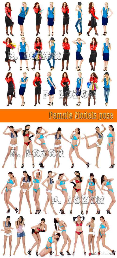 Female Models pose-Stock Photos