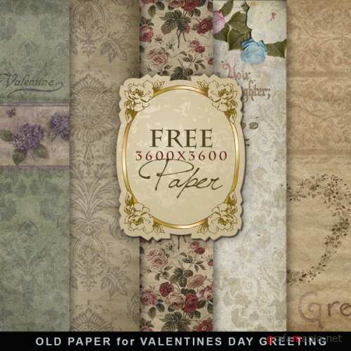 ���� - Old paper Valentines Day Greeting