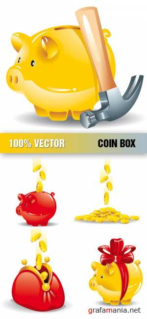 Vector stock - Coin Box vector