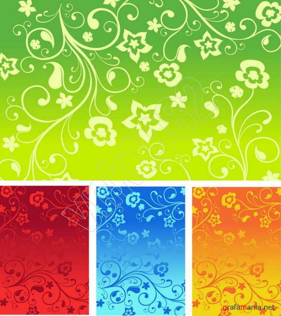 Floral backgrounds | ��������� ���