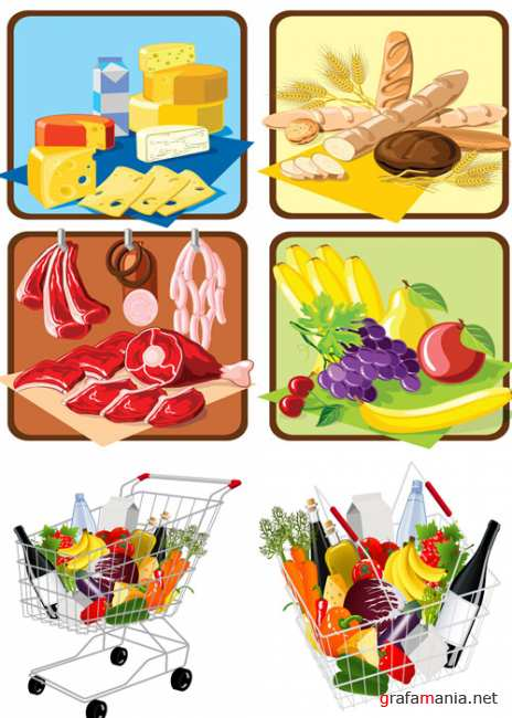 Supermarket-shopping-vector